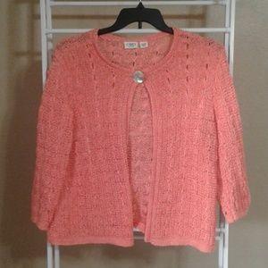 CATO Melon Open Weave Summer Sweater Size 18/20